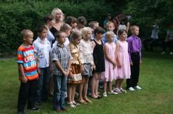 Die weißrussischen Kinder während ihres Sommerferienlagers. ©Andreas-Norbert Schuchardt
