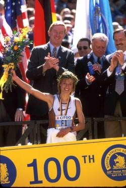 Boston-Marathon 1996. © Victor Sailer, PhotoRun.net