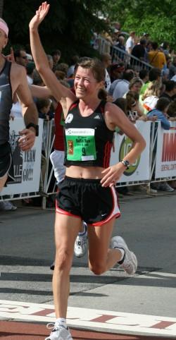 Uta, hier zu sehen beim Bellin Run 2008, genoss die tolle Atmosphäre an der Strecke. © Bellin Health