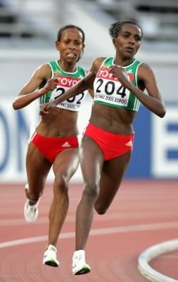 Die Äthiopierinnen Tirunesh Dibaba und Meserat Defar dominieren in der Langstrecke der Frauen. ©www.photorun.net