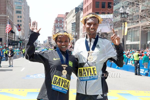 Atsede Baysa und Lemi Berhany Hayle gewinnen den 120. Boston Marathon
