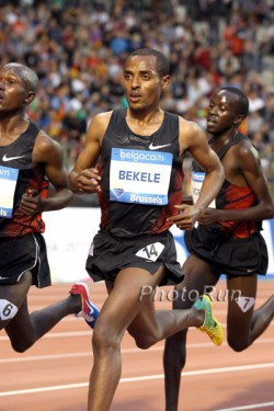 Olympic champion Kenenisa Bekele's, seen here at the Diamond League race 2011 in Brussels, marathon debut in Paris is eagerly anticipated. ©www.PhotoRun.net