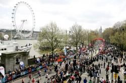 Wie der London-Marathon wird auch das olympische Rennen am Themse-Ufer entlang führen. ©www.PhotoRun.net