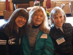 Joanie (rechts), Bobbi (mitte) und Uta 2016 in Boston. ©Michael Reger