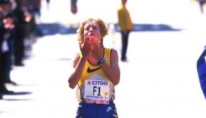 Boston-Marathon 1995: Uta schließt zu Rosa Mota auf