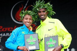 Meseret Defar and Mo Farah triumphed in New Orleans. © www.PhotoRun.net