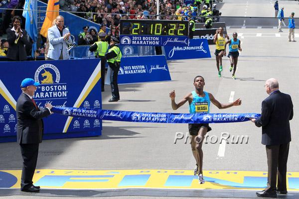 Lelisa Desisa siegt beim Boston-Marathon