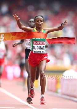 Mare Dibaba gewann Marathon-Gold für Äthiopien. ©www.PhotoRun.net