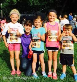 Die kleinen Champions hatten Spaß beim flinken Dick Lytie Children's Run am Freitag. ©Take The Magic Step