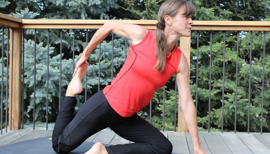 Grüβe von Uta: Yoga-Pose der Woche – 10. Eine Variante der Taube