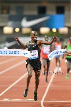 Mo Farah, seen here at the 2011 Prefontaine Classic, hopes to win a gold medal in the British capital. © www.PhotoRun.net
