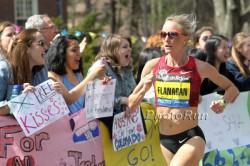 Shalane Flanagan, shown here at last year's Boston Marathon, returns to Beantown. ©www.PhotoRun.net