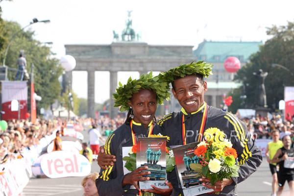 Haile Gebrselassie gewinnt zum vierten Mal den Berlin-Marathon