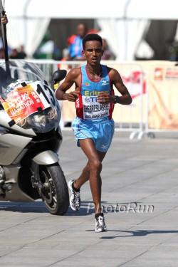 Ghirmay Ghebreslassie ist der neue Marathon-Weltmeister. ©www.PhotoRun.net