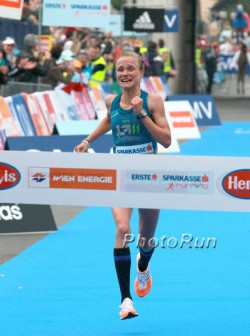 Anna Hahner, the 2014 Vienna Marathon champion, will start in Hanover this year. © www.PhotoRun.net