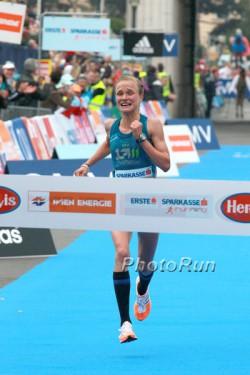 Anna Hahner triumphierte in Wien. ©www.PhotoRun.net