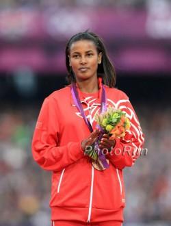 Maryam Jamal, hier zu sehen bei den Olympischen Spielen 2012, genoss die tolle Stimmung in Bozen. ©www.PhotoRun.net