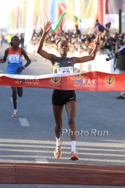 Lucy Kabuu produced the second-fastest run of all time in Ras Al Khaimah.  © www.PhotoRun.net