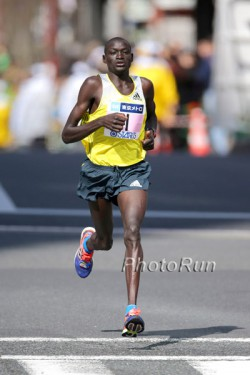 Dennis Kimetto, seen here at 2013 Tokyo Marathon, eyes the world record in Berlin. © www.PhotoRun.net