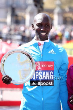 Wilson Kipsang, seen here after his victory in London in 2014's world best time, competes in New York. © www.PhotoRun.net