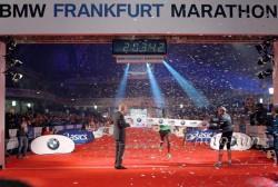Wilson Kipsang gewann 2011 den Frankfurt-Marathon zum zweiten Mal in Folge mit einem Kursrekord. ©www.photorun.net
