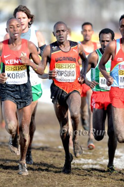 Moses Kipsiro, seen here at the 2013 World Cross-Country Championships, achieved his fifth success in Trier. © www.PhotoRun.net