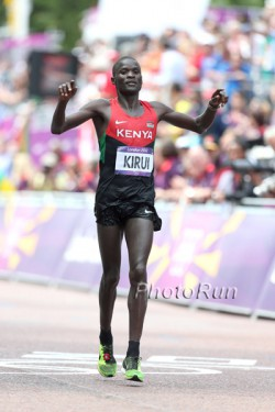 Abel Kirui wird Zweiter in London. © www.PhotoRun.net