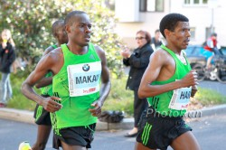 Patrick Makau, running alongside Haile Gebrselassie at the 2011 edition of the Berlin Marathon, will compete for the first time in Boston. © www.PhotoRun.net