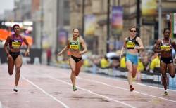 "Das 150-m-Rennen der Frauen bei den ""Great CityGames"". ©GreatCityGames/PeteLangdown"
