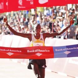 Dennis Kimetto siegt bei der 36. Auflage des Chicago-Marathons. ©Bank of America Chicago Marathon