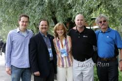 Die Race-Direktoren der Big Five: Mark Milde (Berlin), Guy Morse (Boston), Mary Wittenberg (New York), Carey Pinkowski (Chicago) und David Bedford (London/von links nach rechts). ©www.PhotoRun.net