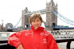 Irina Mikitenko, hier zu sehen beim London-Marathon 2012. ©www.PhotoRun.net