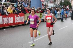 Erst im Endspurt konnte sich Amela Terzic gegen Irina Mikitenko durchsetzen. ©Andreas Maringer/Peuerbach