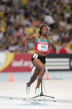 Hellen Obiri, hier zu sehen bei der WM 2011, entschied das Frauenrennen für sich. ©www.photorun.net