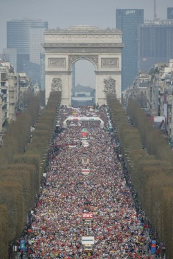Paris marks the start of the major spring marathons. © Schneider Electric Marathon de Paris