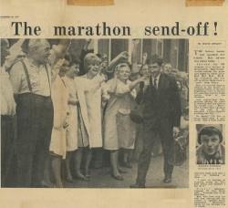 September 1964: Auf geht's zum Marathon nach Tokio! © Von David Wright zur Verfügung gestellt