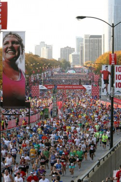 Der Start zum Chicago-Marathon. © www.PhotoRun.net