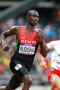 David Rudisha bei den Olympischen Spielen in London. © www.PhotoRun.net