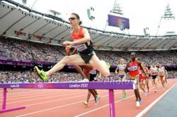 Antje Möldner-Schmidt, hier zu sehen bei den Olympischen Spielen 2012, triumphierte über 3.000-m-Hindernis. ©www.PhotoRun.net