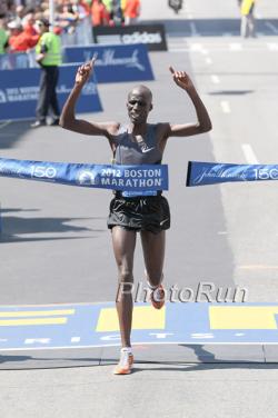 Wesley Korir war der schnellste Läufer in der Hitze von Boston. ©www.photorun.net