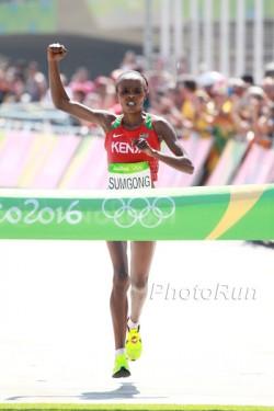Jemima Sumgong lief in Rio zum größten Triumph ihrer Karriere. ©www.PhotoRun.net