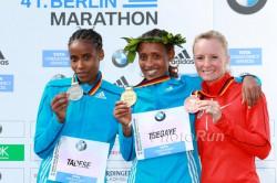 Feyse Tadese, Tirfi Tsegaye und Shalane Flanagan. ©www.PhotoRun.net