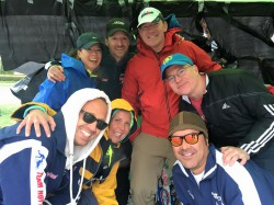 The Team Hoyt aid station. © Maureen Hayes