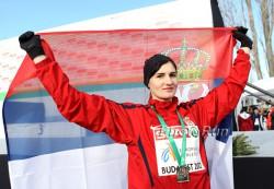 Amela Terzic, hier zu sehen bei den Crosslauf-Europameisterschaften 2012, verteidigte erfolgreich ihren Titel. ©www.PhotoRun.net