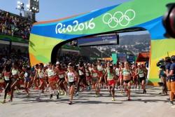 Der Start des olympischen Marathons der Frauen. ©www.PhotoRun.net