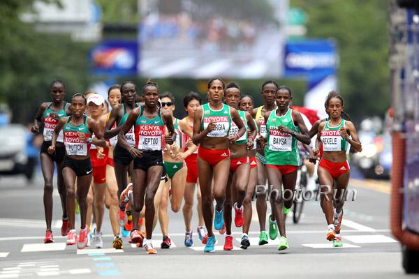 WM-Aktuell: Einmaliger Marathon-Triumph für Kenia