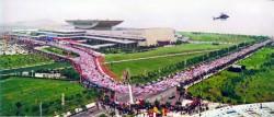 Zehntausende von Läufern starten im chinesischen Xiamen. ©Xiamen-Marathon