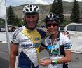 Joe Friel zusammen mit Uta beim Colorado River Ride 2008, der größten Spendenaktion für SOS Outreach. © privat