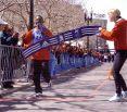 Uta beim Kids Run des Boston-Marathons 2005. © Jim Davis